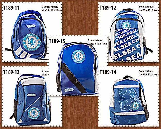 tas ransel, tas backpack, klub bola, fc, chelsea tas backpack fc, chelsea, anna gallery di tangerang