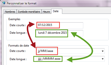 Format date windows