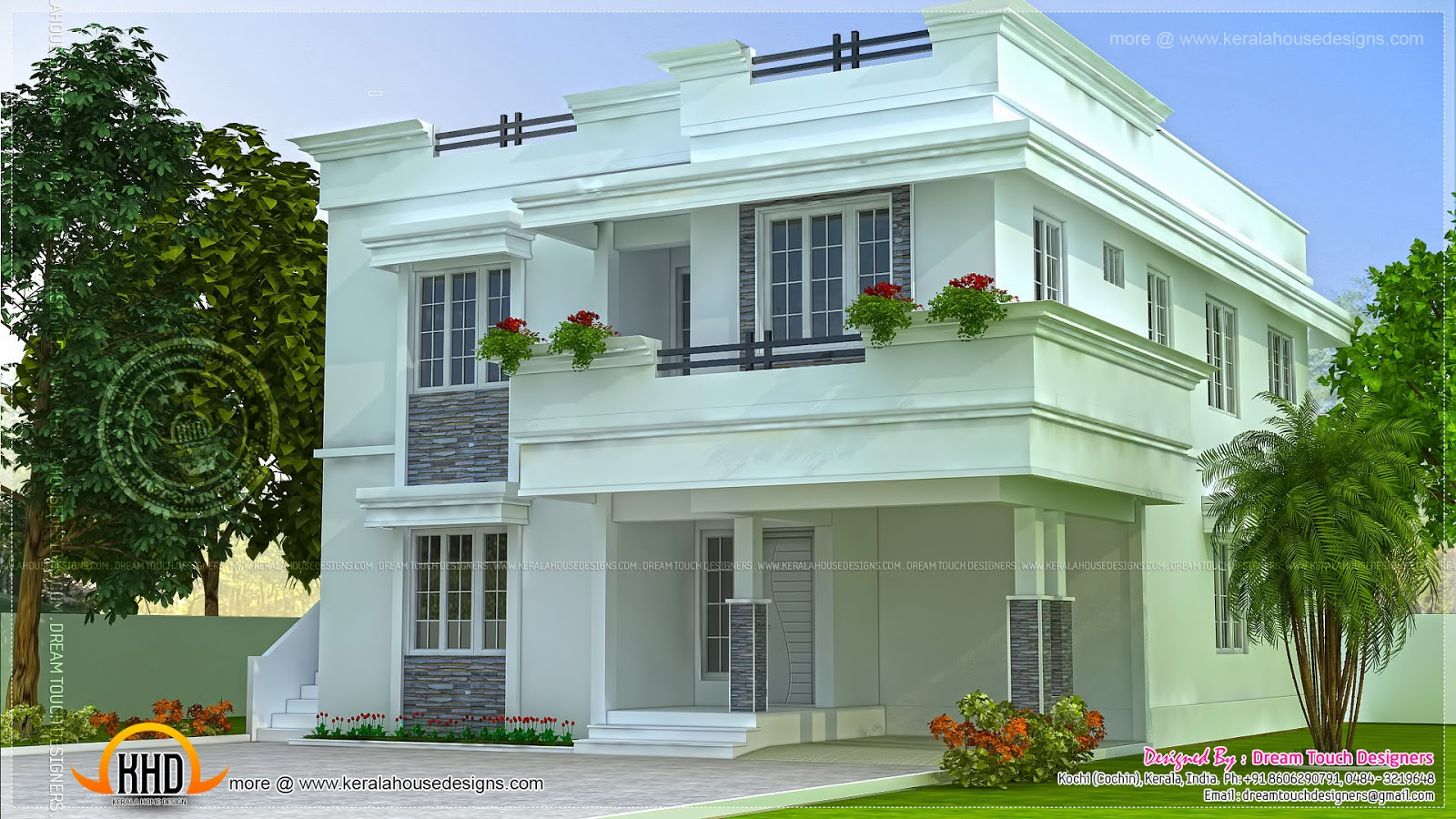Modern beautiful home design kerala home design and for Attractive home designs