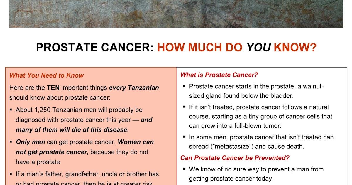 Rwebangira Blog: Prostate cancer - wafahamu kiasi gani juu ...