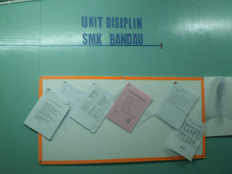 Welcome To Unit Disiplin SMK Bandau