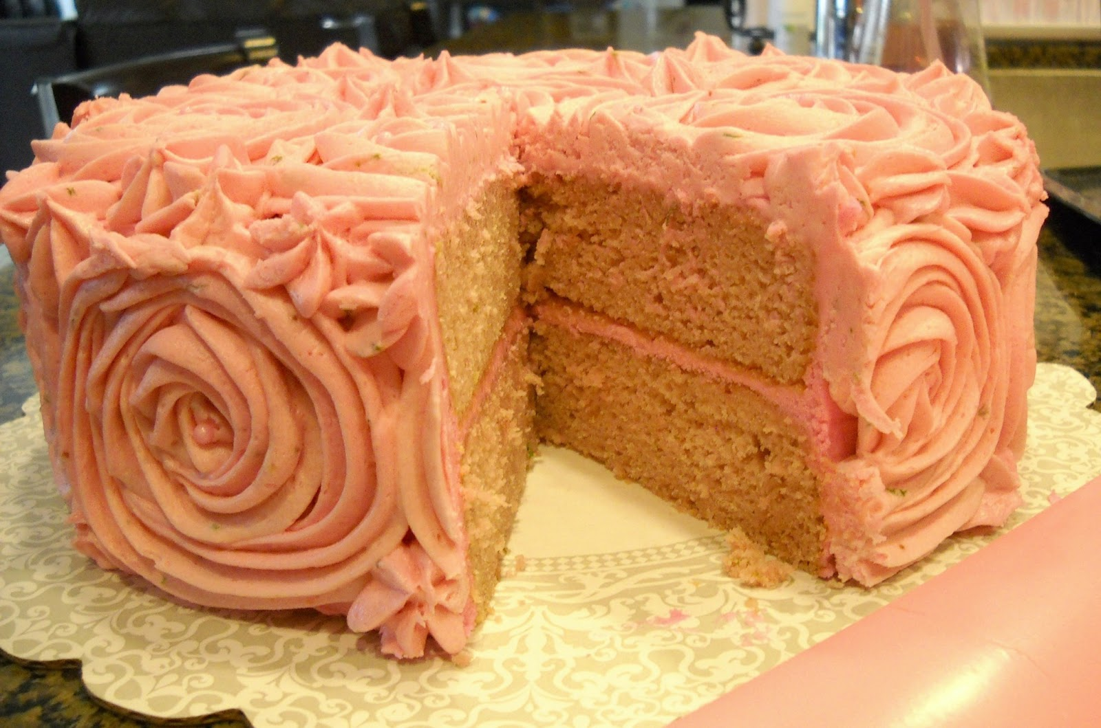strawberry daquiri cake