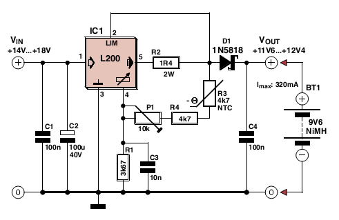 electronics projects  simple l200 charger