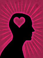 donde se encuentra el amor, corazón, cerebro, enamorado