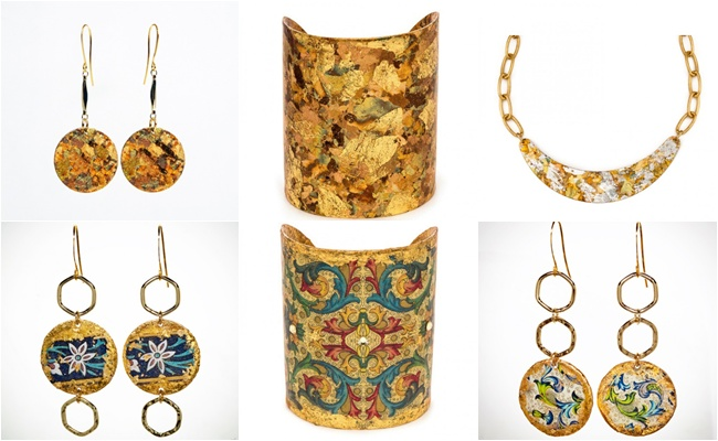 EVOCATEUR is a jewelry line made from the high quality 22K gold leaf as well as sterling silver leaf. Founder and designer Barbara Ross-Innamorati. Unique jewelry. Most beautiful jewelry. Evocateur The Ancients line.