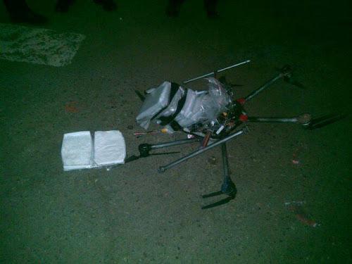 Drone com drogas ilícitas se espatifa