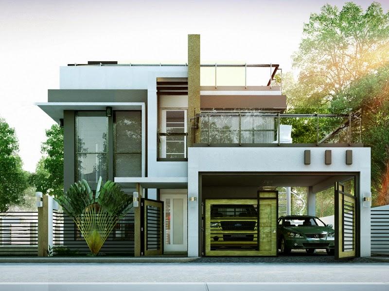 gambar rumah mewah minimalis 2 lantai