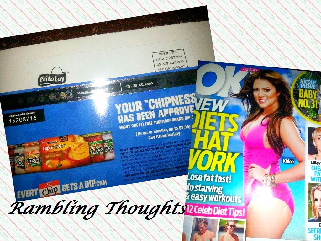 Rambling Thoughts, Mail Call, Bragging Time, Free, Tostitos, Ok magazine