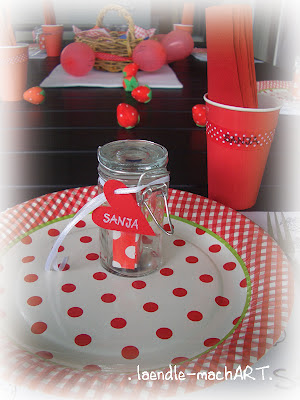 Kindergeburtstag Dekoration Erdbeer