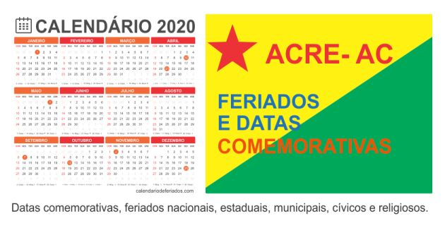 Calendário Estado do Amazonas - AM
