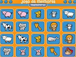 JOGO DA MEMÓRIA COM OS MAMÍFEROS