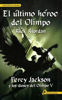 Percy Jackson y el último héroe del Olimpo de Rick Riordan