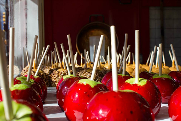 estes park, candied apples