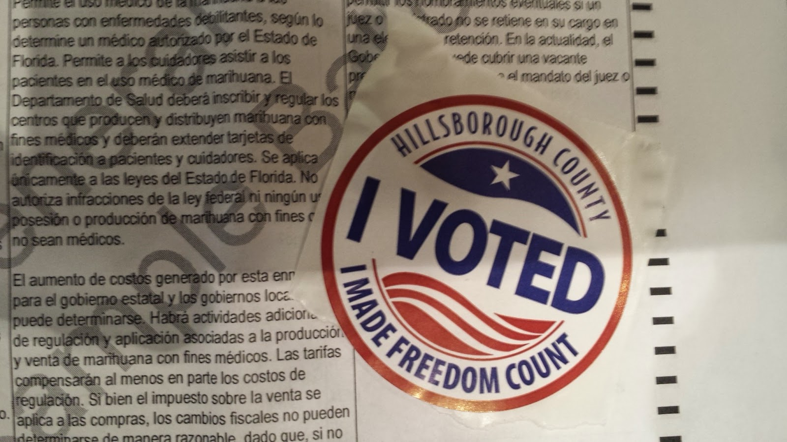 Early Voting started today in Hillsborough County, FL