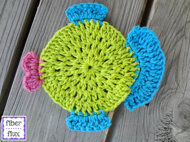 Fiber Flux Free Crochet Patternfabulous Fish Dishcloth