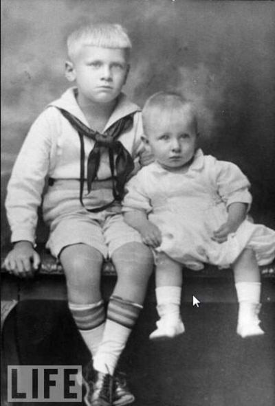 Gerald Ford, 6 Years Old, With His Half-Brother, Tom, 1920