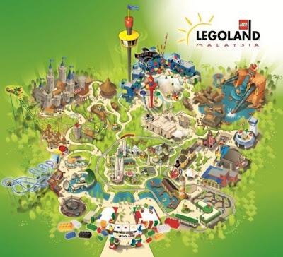 Stylized map of Legoland Malaysia