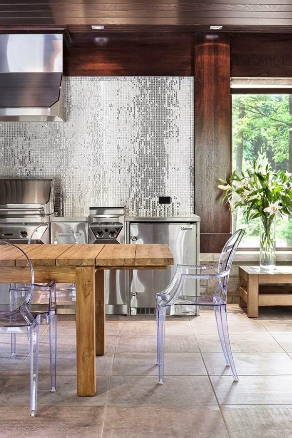 silver kitchen, inspirations, shiny kitchen