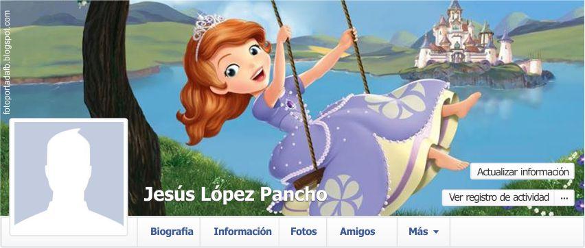 Portada para facebook con el tema de la princesa sofia