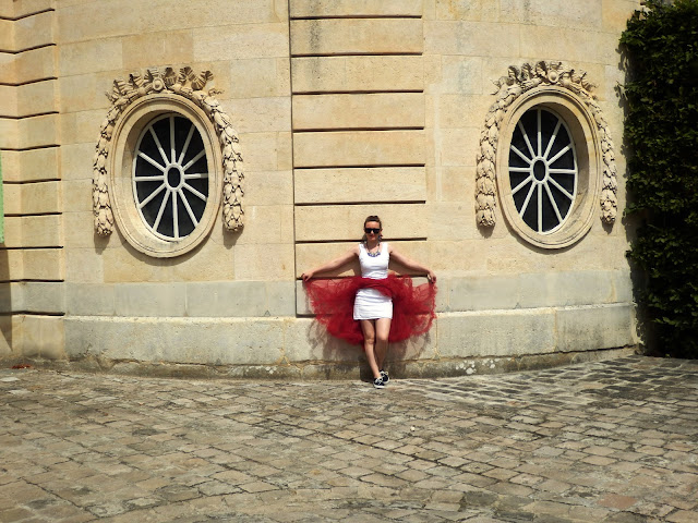 Versailles Chanel Red and White Panniers Petit Trianon