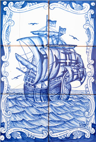 Caravelle azul héros ? Ceramis Azulejos, à chaque 1 saga l'ère...