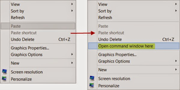 Ways to open Command Prompt in a folder in Windows and New Shell Commands in Windows 7