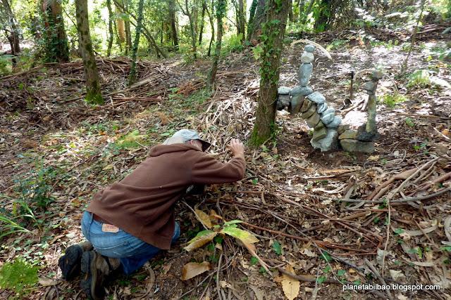 paisaje humano,bosque Beresi,Robert Garay, piedras en equilibrio, stone balanced, land art