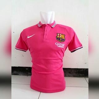 gambar detail jersey musim depan liga spanyol barcelona musim depan Kaos bola polo klub Barcelona warna merah pink terbaru musim 2015/2016 di enkosa sport toko online baju bola terpercaya dan terlengkap