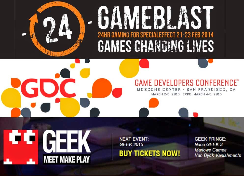 24 Game Blast: Games Changing Lives. Game Developer Conference 2015 Game Accessibility - and Geek 2015 Margate.
