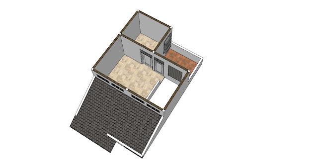 Desain Rumah Minimalis 6 x 9 m Lantai 2