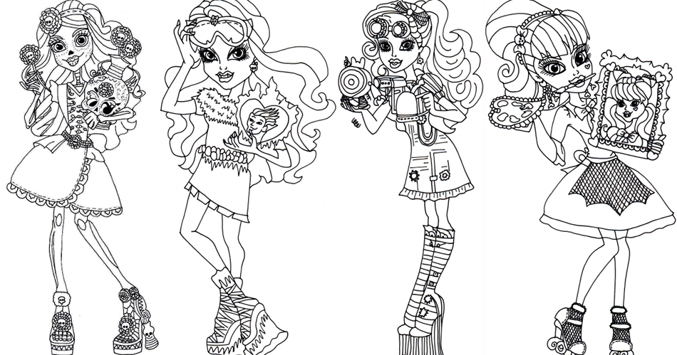 Free Printable Monster High Coloring Pages Art Class Sheet
