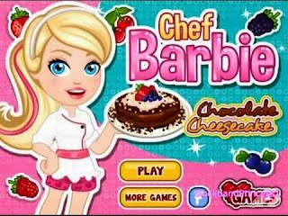 لعبة طبخ كيك باربي