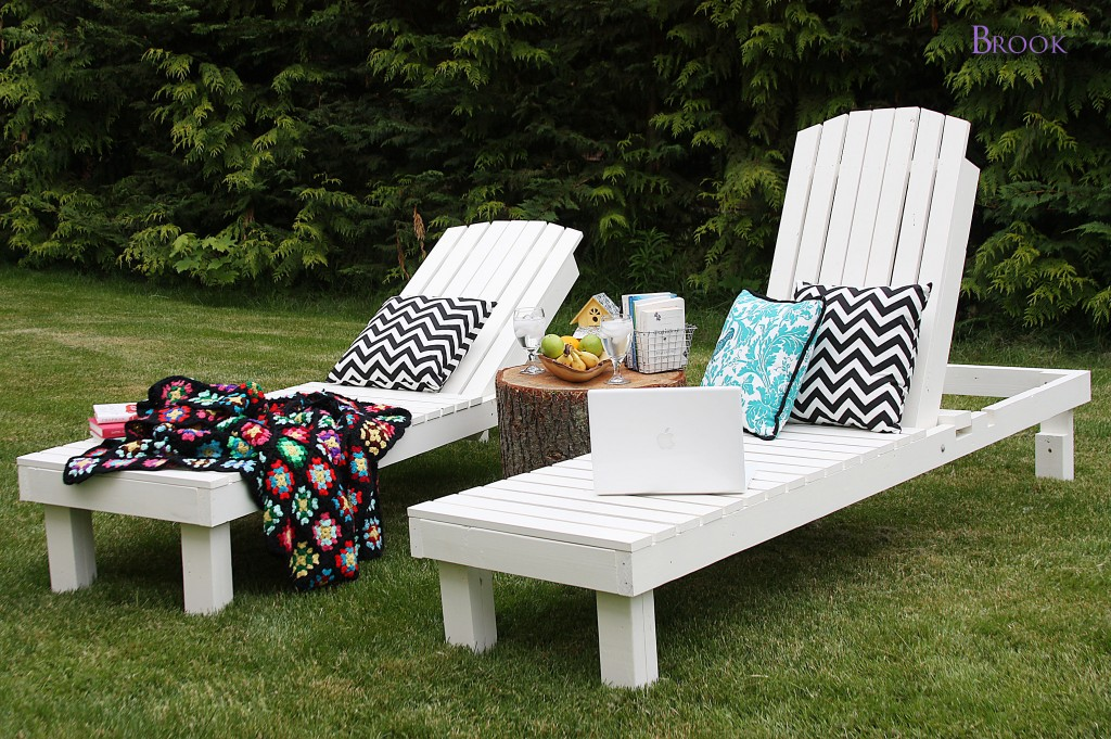 Ana white chaise lounges beingbrook for Build outdoor chaise lounge