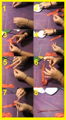 como hacer flor de papel de seda pistilo