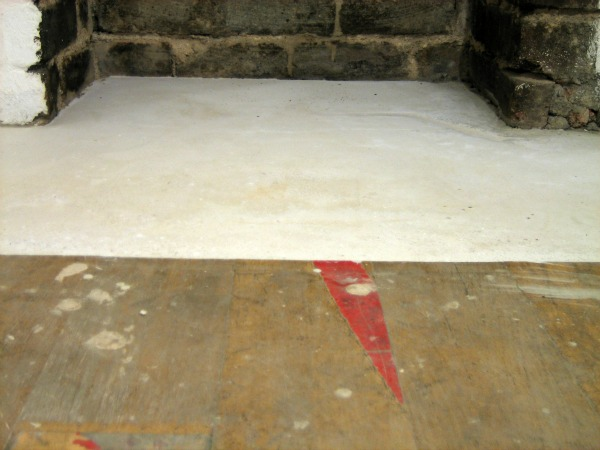 Our Handmade Home Repairing And Levelling A Concrete Hearth
