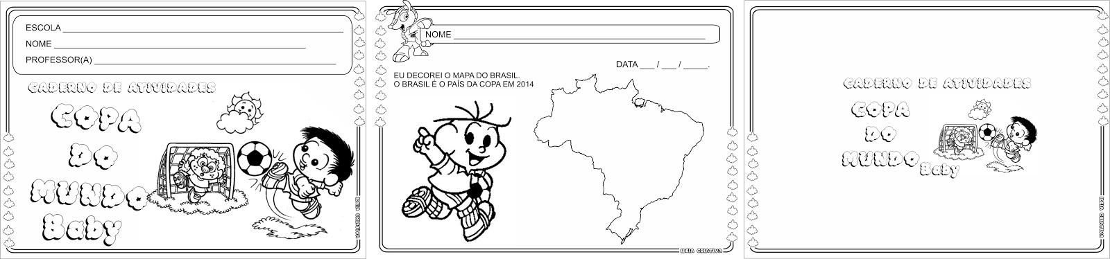 Caderno Copa do Mundo Baby Maternalzinho