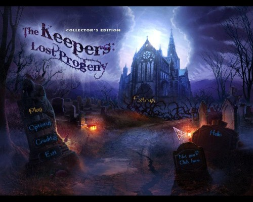 The Keepers: Lost Progeny Collector's Edition main menu