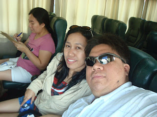 in the bus going to Sipalay City