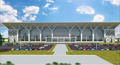 Rendering for proposed new terminal at Enugu Akanu Ibiam International Airport, Nigeria