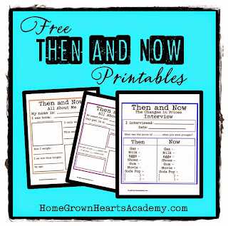 FREE Then and Now Printables