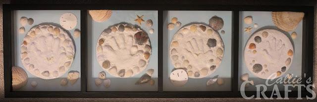 Sandprint Shadow Box