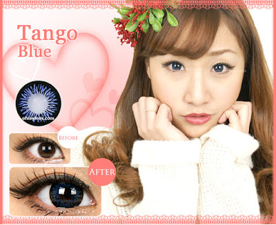 Tango Blue Contact Lenses at ohmylens.com