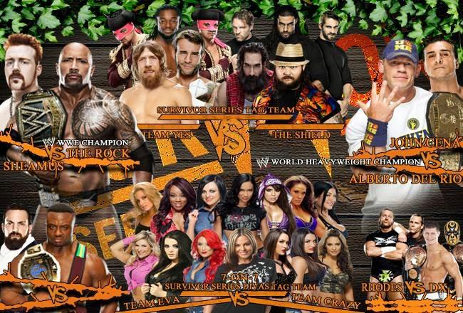 WWE Survivor Series All Matches 2013 PSD
