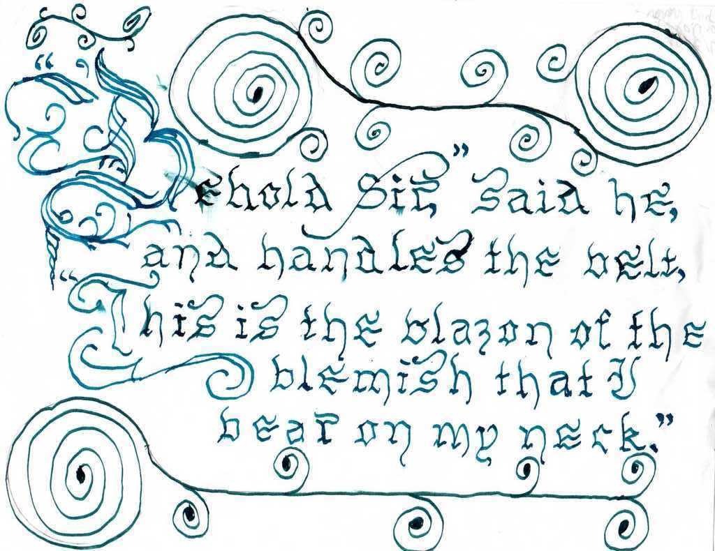 Calligraphy alphabet march