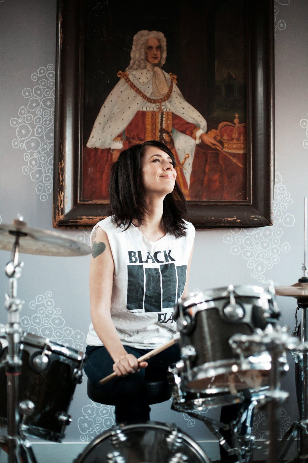 Kathleen Hanna from A Punk Singer on the Drums