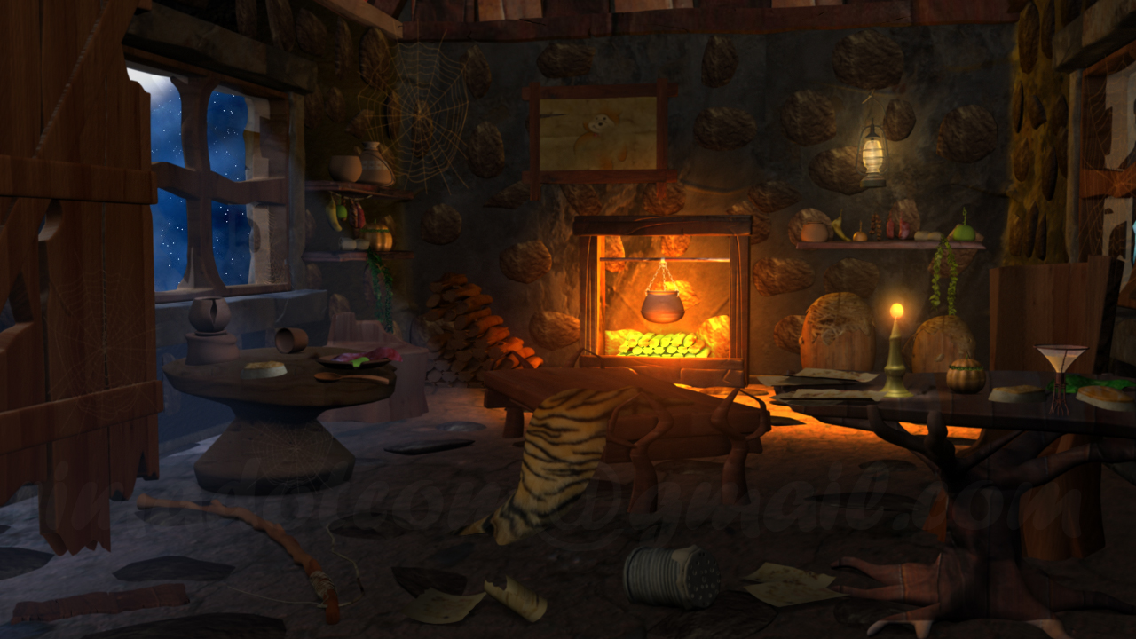 Rima Mitra 3D CG Generalist In 3D Animation Concept Night Fantasy Room