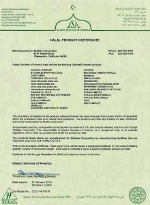 Sijil Pengesahan Halal