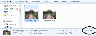 image size before compression