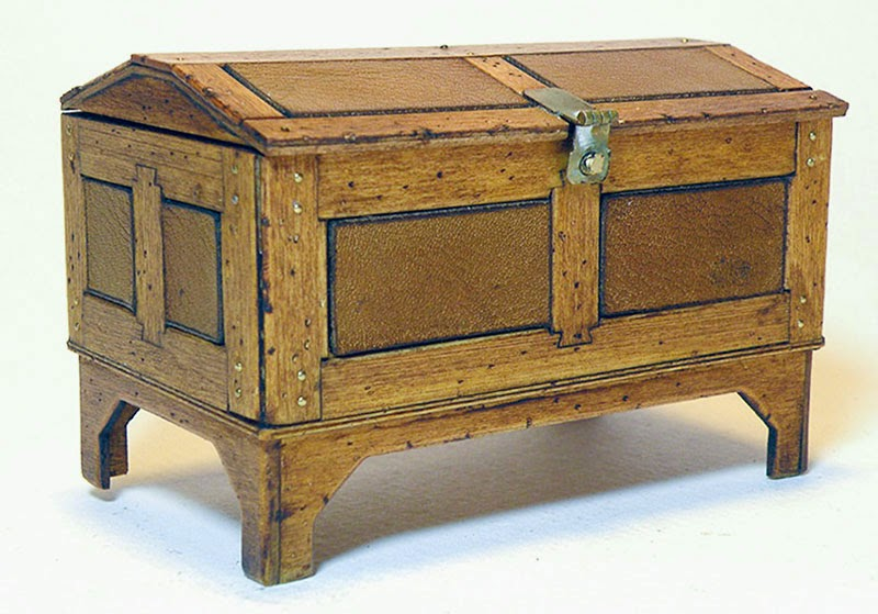 Captainu0027s Sea Chest In An All Wood Finish, Without Inlays. Otherwise The  Same As Above.