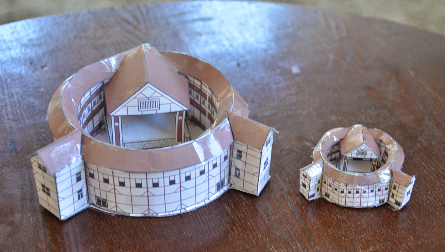 A School Of Fish Globe Theater Paper Models